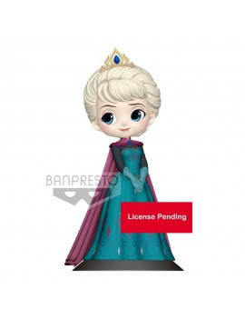 Disney Q Posket Mini Figure Elsa Coronation Style B Pastel Color Version 14 cm