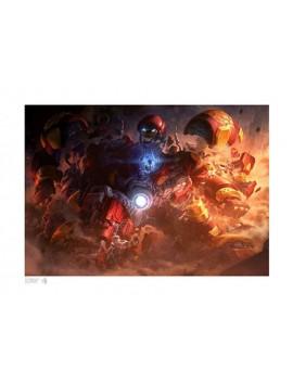 Marvel Art Print Hulkbuster by Erwin Papa & Fabian Schlaga 46 x 61 cm - unframed