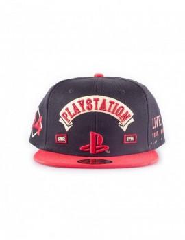 Sony PlayStation Biker Snap Back Baseball Cap Logo