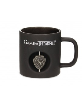 Game of Thrones Mug 3D Rotating Logo Targaryen Black Crystal