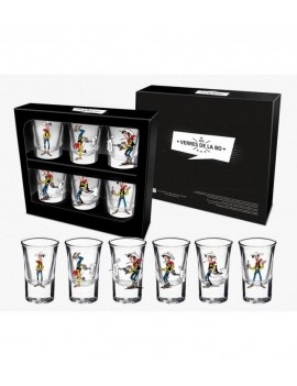 Lucky Luke Shotglass 6-Pack Firing Positions