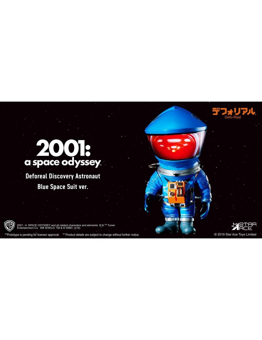 2001: A Space Odyssey Artist Defo-Real Series Soft Vinyl Figure DF Astronaut Blue Ver. 15 cm