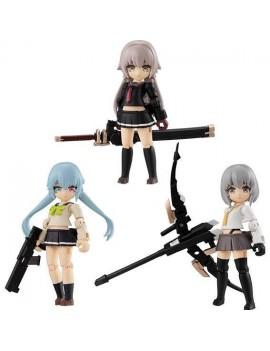 Heavily Armed High School Girls Desktop Army Figures 8 cm Assortment Team 1 (3)