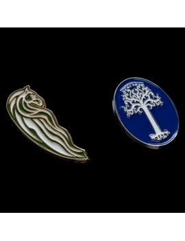 Lord of the Rings Collectors Pins 2-Pack Rohan Horse & White Tree