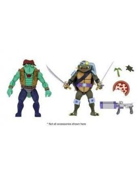 Teenage Mutant Ninja Turtles Action Figure 2-Pack Leather Head & Slash 18 cm