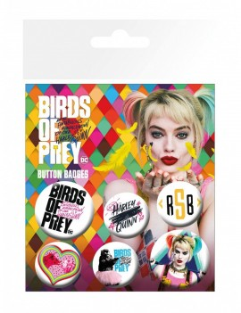 Birds of Prey Pin Badges 6-Pack Mix