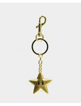 Super Mario Metal Keychain Super Star