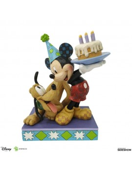 Disney Statue Pluto & Mickey Birthday 16 cm