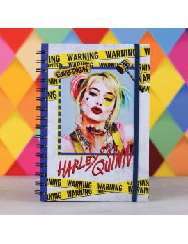 Birds Of Prey Wiro Notebook A5 Harley Quinn Warning