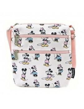 Disney by Loungefly Passport Bag Pastel Minnie Mickey AOP