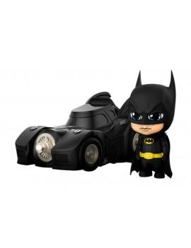 Batman (1989) Cosbaby Mini Figures Batman with Batmobile 12 cm