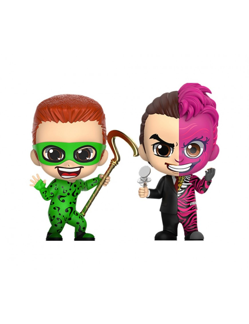 Batman Forever Cosbaby Mini Figure 2-Pack The Riddler & Two-Face 11 cm