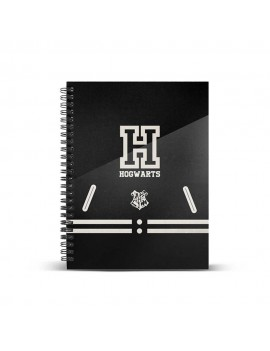 Harry Potter Notebook A4 Hogwarts Black