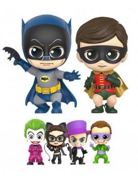 Batmans 1966 Cosbaby Mini Figure Box Set Batman, Robin and Villains 11 cm
