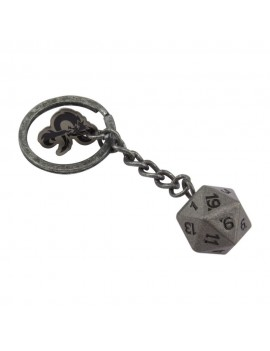 Dungeons & Dragons Metal Keychain D20