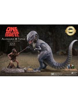 One Million Years B.C. Soft Vinyl Statues Allosaurus & Tumak