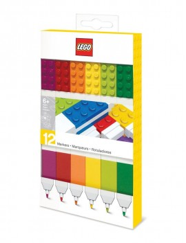LEGO Felt Tip Pens Set 12-Pieces Bricks