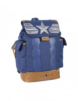 Marvel Backpack Captain America Silver Badge