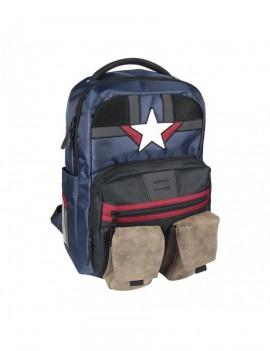Marvel Backpack Captain America White Star