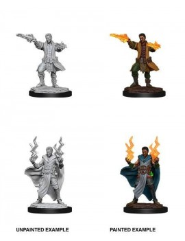 D&D Nolzur's Marvelous Miniatures Unpainted Miniatures Male Human Sorcerer Case (6)