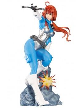G.I. Joe Bishoujo PVC Statue 1/7 Scarlett 25th Anniversary Sky Blue Color Ver. 23 cm