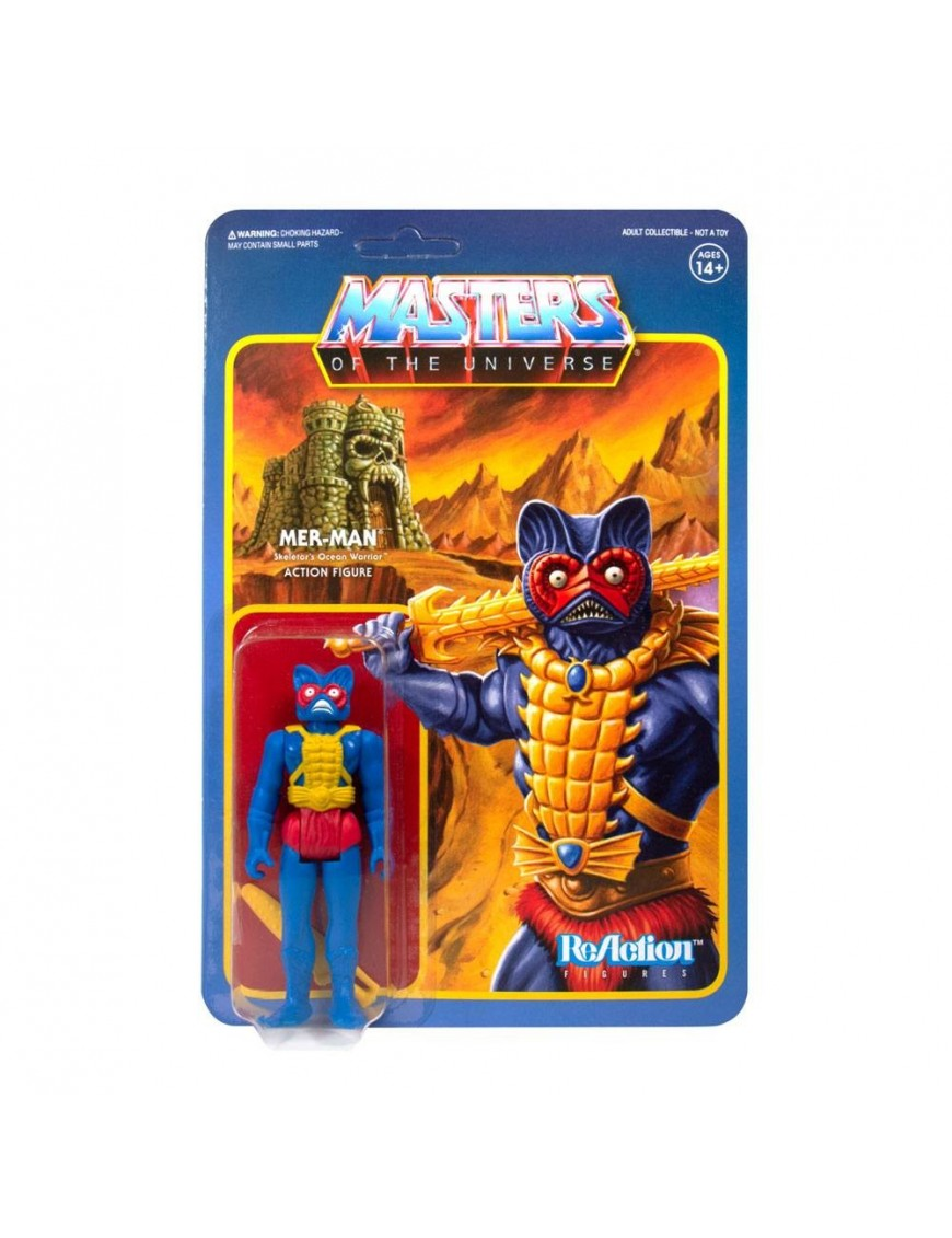 Masters of the Universe ReAction Action Figure Mer-Man (Carry Case Color) 10 cm