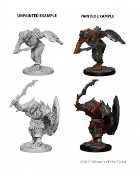 D&D Nolzur's Marvelous Miniatures Unpainted Miniatures Dragonborn Male Fighter Case (6)