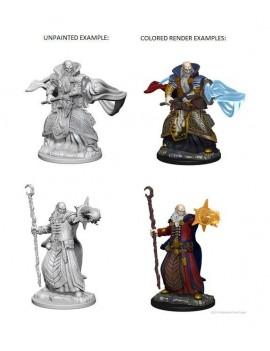 D&D Nolzur's Marvelous Miniatures Unpainted Miniatures Human Male Wizard Case (6)