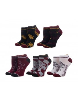 Harry Potter Ladies Ankle Socks 5-Pack Gryffindor