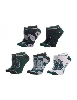 Harry Potter Ladies Ankle Socks 5-Pack Slytherin