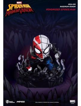 Marvel Maximum Venom Collection Mini Egg Attack Figure Venomized Spider-Man 8 cm