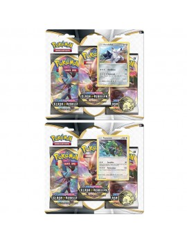 Pokémon Sword and Shield Rebel Clash Blister Booster 3-Pack *German Version*