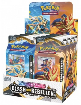 Pokémon Sword and Shield Rebel Clash Theme Deck Display (8) *German Version*