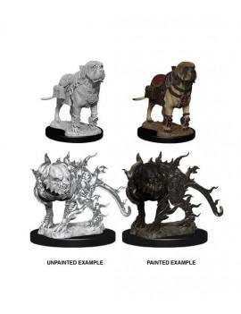 D&D Nolzur's Marvelous Miniatures Unpainted Miniatures Mastif & Shadow Mastif Case (6)