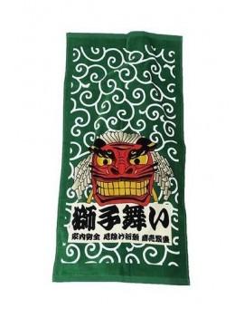 Ukiyo-e Towel Japop Lion Dance 50 x 100 cm