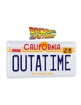 Back To The Future Replica 1/1 ´Outatime´ DeLorean License Plate