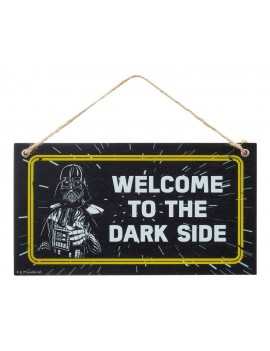 Star Wars Fathers Day Wooden Door Hanger Welcome To The Dark Side