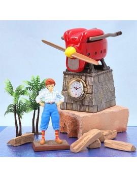 Porco Rosso Table Clock Fio Piccolo Savoia Late Model 15 cm