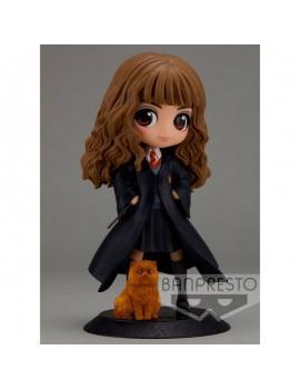 Harry Potter Q Posket Mini Figure Hermione Granger with Crookshanks 14 cm