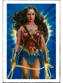 DC Comics Art Print Wonder Woman: Lasso of Truth 46 x 61 cm - unframed