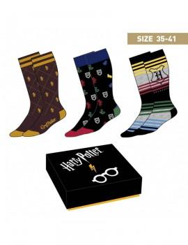 Harry Potter Socks 3-Pack Crests 35-41