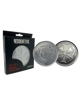 Resident Evil Coaster 4-Pack Police & Logo