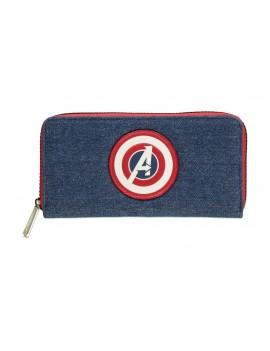 Avengers Wallet Symbol Zip Around