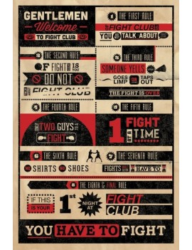 Fight Club Poster Pack Infographic 61 x 91 cm (5)