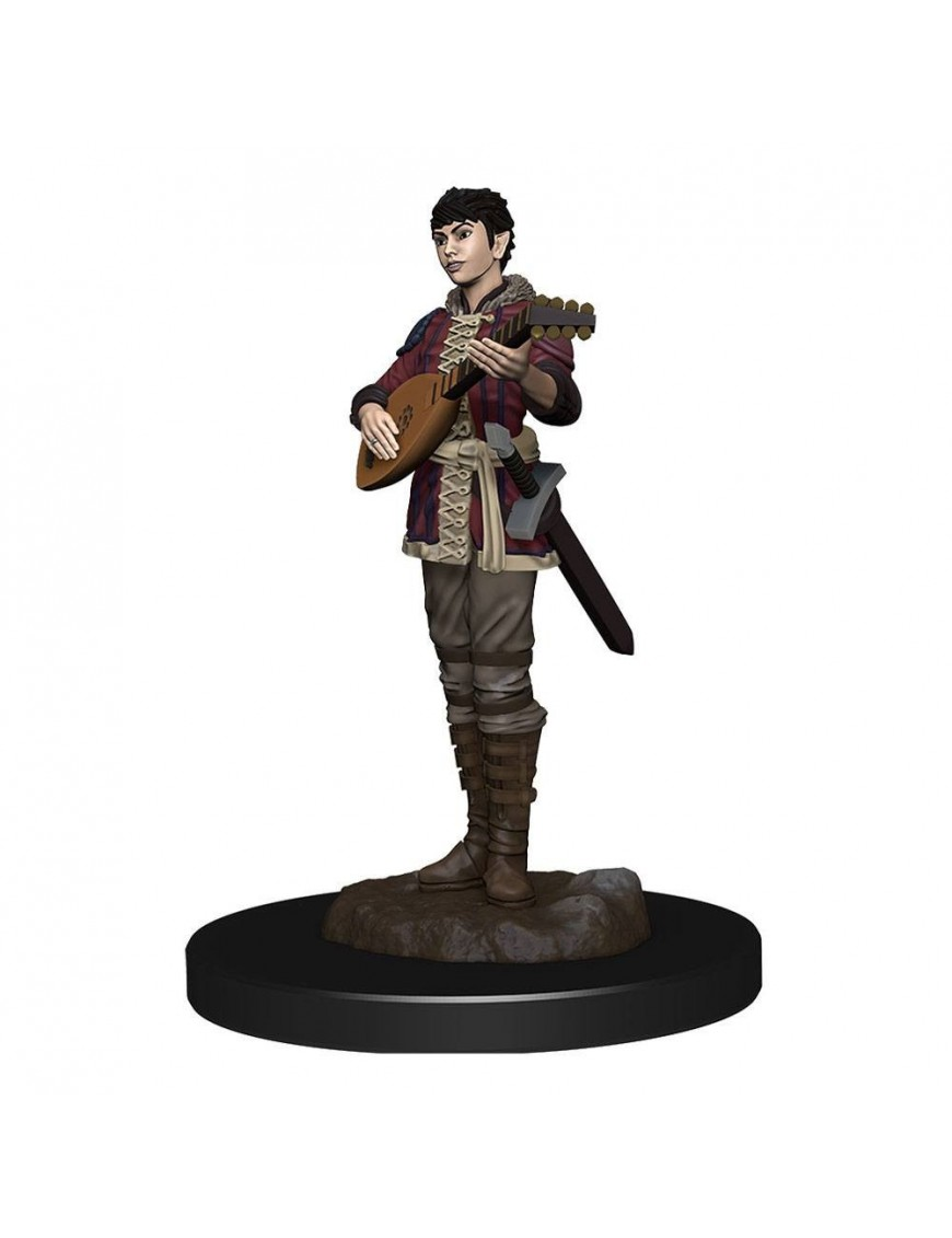 D&D Icons of the Realms Premium Miniature pre-painted Half-Elf Bard Female Case (6)