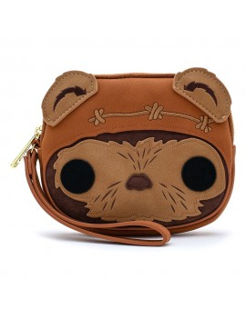Star Wars POP! by Loungefly Coin/Cosmetic/Wristlet Bag Wicket Head