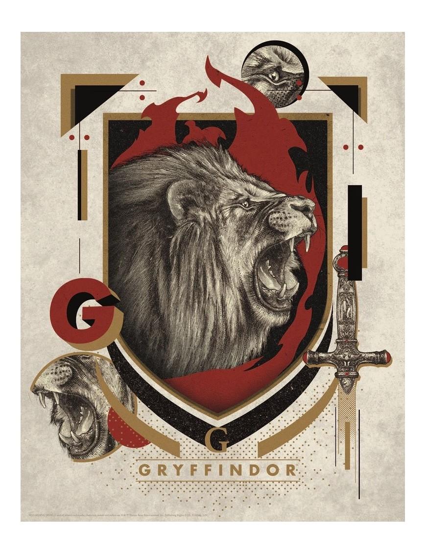 Harry Potter Art Print Gryffindor 36 x 28 cm