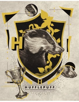 Harry Potter Art Print Hufflepuff 36 x 28 cm