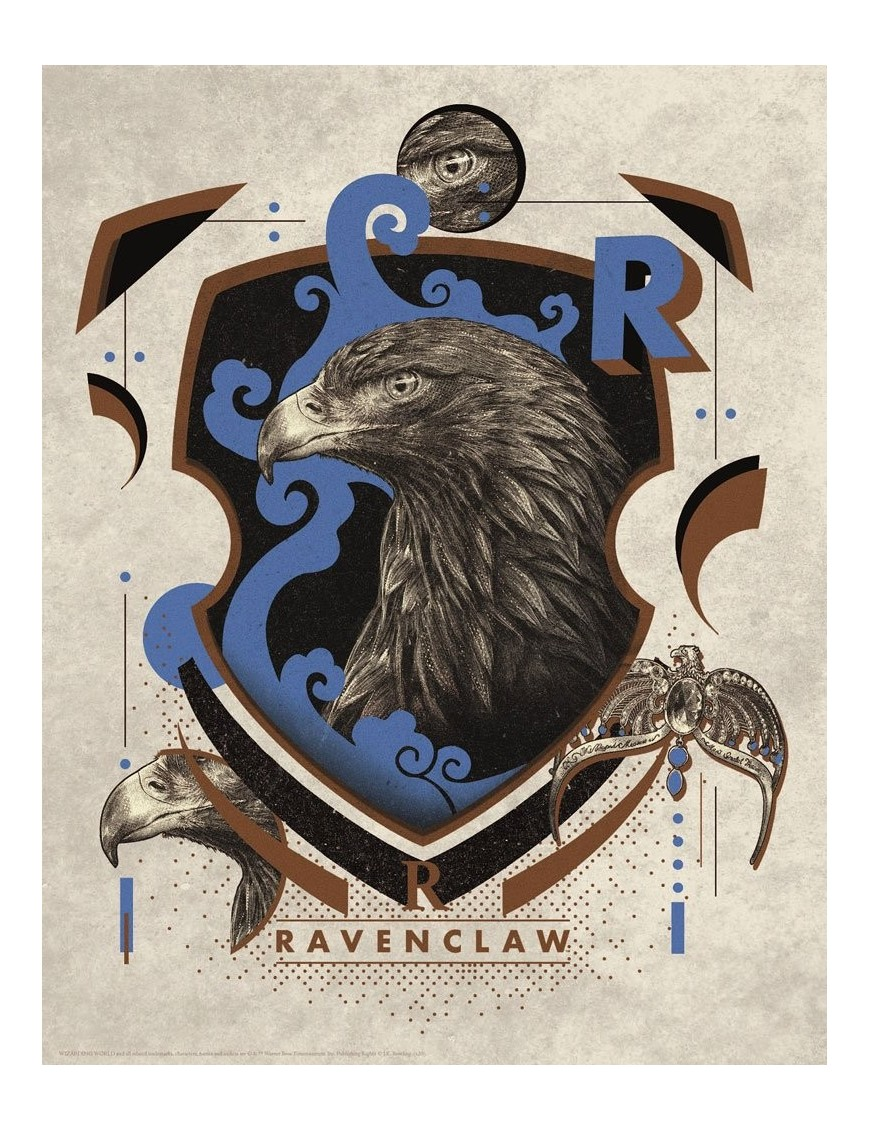 Harry Potter Art Print Ravenclaw 36 x 28 cm