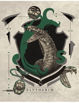 Harry Potter Art Print Slytherin 36 x 28 cm